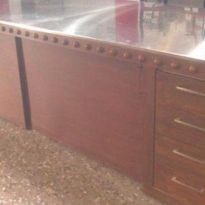 mesa rustica hierro